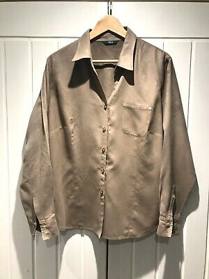 Pretty Dusky Pink Suede Look Shirt From Marks & Spencer ~ Size 18