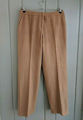 Brooks Brothers Womens 14 Dress Pants Camel Hair Brown Flat Lined Career Work