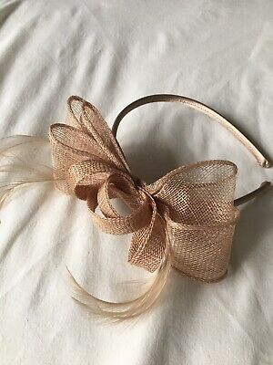 Wedding Fascinator Headband Aliceband Ladies Cream