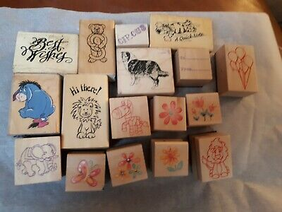 Job Lot Large Selection of Stamps Rubber Stamping Scrapbooking Arts Crafts (a/b)