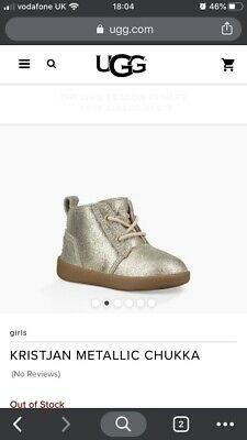 Baby Metalic Uggs Size 2-3 6-12-18 Months
