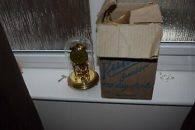 Vintage  Brass Kundo 400 Day Anniversary Clock With Original Box And Key
