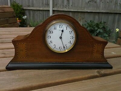 "Bayard Duverdrey & Bloquel Inlaid Mantel Clock ""Immaculate Condition"" Art Deco"