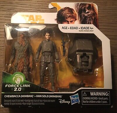 Star Wars Solo Force Link 2.0 Action Figure - Chewbacca & Han Solo (Mimban) NEW