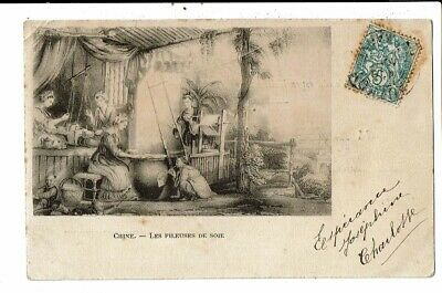CPA-Carte  Postale -Chine - La fileuse de soie -1904 -VM12985