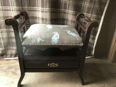 Edwardian Antique piano stool in fantastic condition