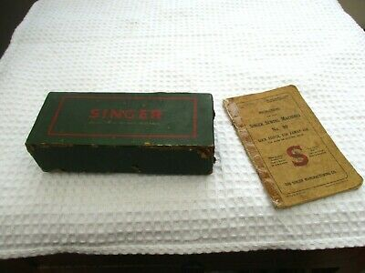 Vintage Singer Sewing Machine 99K Instruction Booklet and Accessories
