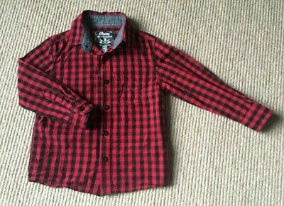 Boys Red And Black Check Shirt Long Sleeve Aged 2-3 Primark