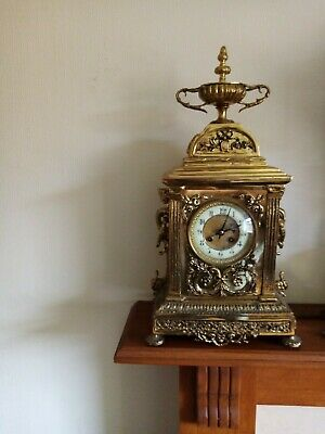 solid brass Vintage mantle clock