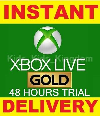 Xbox Live 48 hours Gold Trial Membership Code (2 Days) - Xbox One / 360 Instant