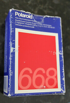 Vintage Polaroid 668 Pack Polacolor Film Type Exp 1989. One pkg Sealed, one open