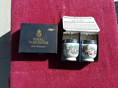 Pair Of Royal Worcester Egg Coddler Country Kitchen In Box