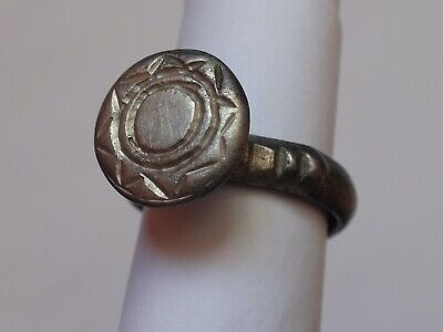 Beautiful Ancient Byzantine Silver Ring     7,96 g  /