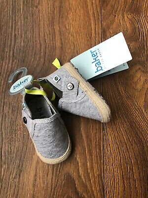 New Ted Baker Baby Boys Grey Shoes Booties First Shoes Size 3-6 Months