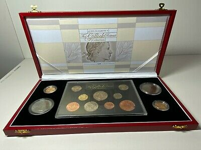 Queen Elizabeth The Gillick Potrait Collection inc. 1957 & 1968 gold sovereigns