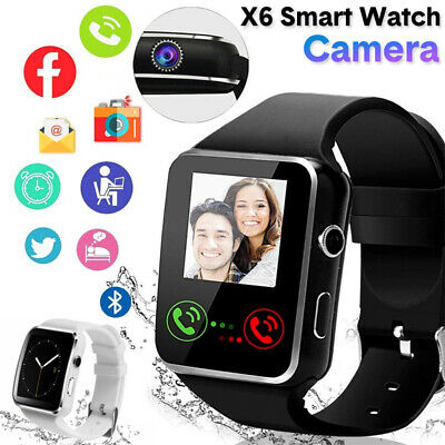 X6 Bluetooth Smart Watch Bracelet SIM Touch Screen Camera For Android Phone