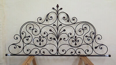 Headboard for Double Bed Wrought Iron a Tail Peacock Bed Header Vintage 16