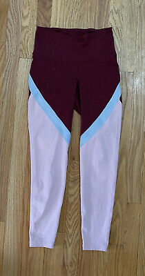 Old Navy Active Wear Go Dry Leggings Mid Rise Capri Size Small Yoga Pink EUC