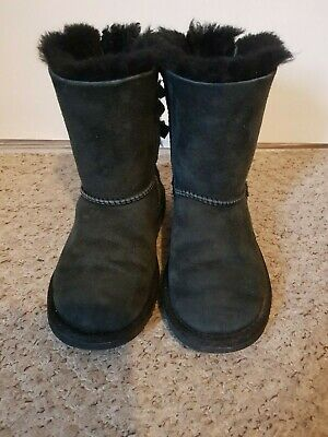 Girls black Bailey Bow UGG boots Infant size 12