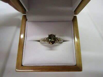 Gorgeous Estate 14 Kt Gold 1.50 Ct. Vivid Andalusite And Diamond Ring !!!!!