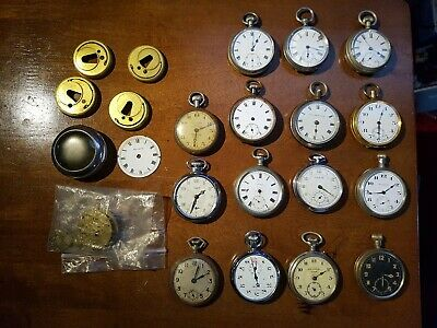 Job lot of vintage/antique pocket watches and parts