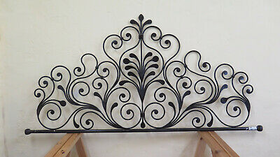 Headboard for Bed 150 cm Wrought Iron a Tail Peacock Bed Header Vintage 18