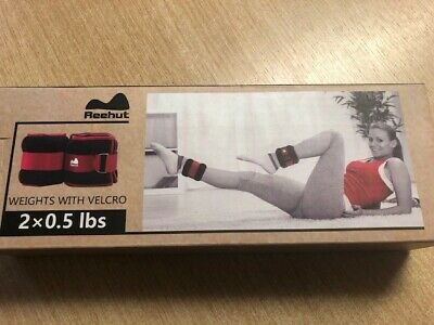 Reehut Weights with Velcro 2 x 0.5lbs new in box wrist and ankle weights