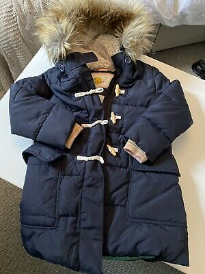 boden girls Duffle Style Padded Lined coat 6-7