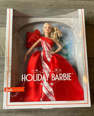 2019 Holiday Barbie Doll - Blonde Curls Mattel New In Box - In Good Condition
