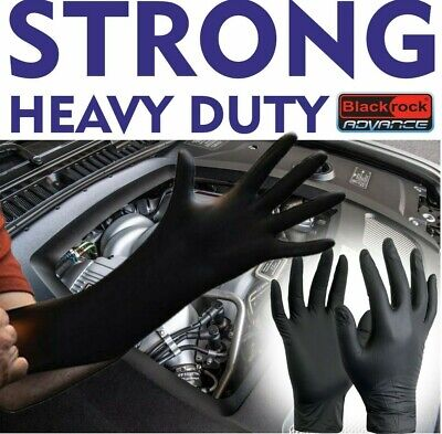 Heavy Duty Strong Disposable Nitrile Gloves Mechanic Garage Auto Oil Box Protect