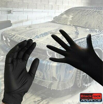 Heavy Duty Strong Disposable Nitrile Gloves Black Cleaning Protection Hand Grade