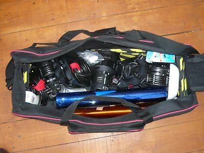 Sachtler 3 x 300H lamps & individual, stands, dimmers in new bag