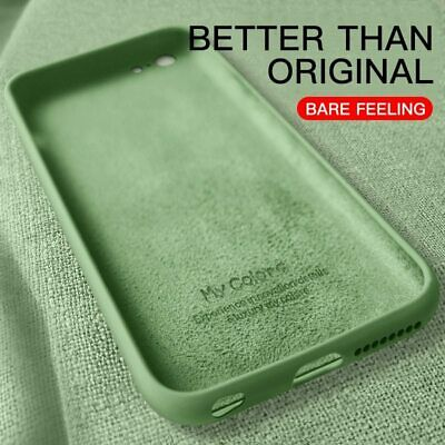 Thin Soft Case For iPhone 7 8 6 6s Plus 5S 4 Original Liquid Silicone Cover Cand
