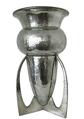 Rare Archibald Knox Art Nouveau Tudric Pewter Bomb Vase For Liberty & Co Arts