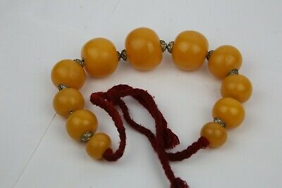 Amber Coloured Tibet Style Necklace Very large beads (33mm)