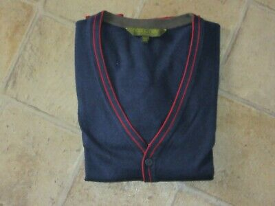 Boys TED BAKER Blue 10% Wool Button Front Cardigan Size 11-12 years yrs GR8