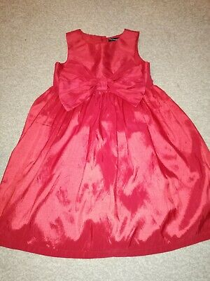 Girls Red Party Dress 8 - 9 Yrs Matalan Christmas Party