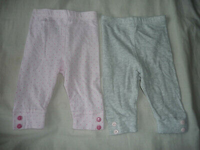 Mothercare baby girl's bundle of 2 leggings - 0-3 months - EXC