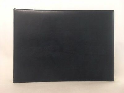 Aspinal of London Dark Blue Leather Album with Cream Pages.