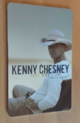 Kenny Chesney Just Who I Am: Poets & Pirates Music Card Not Activated Collectors