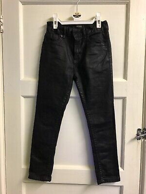 Boys River Island Skinny Wax Coated Jeans Age 8