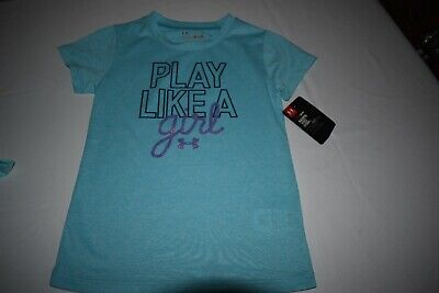 Under Armour Girl's Size 5 T Shirt Nwt Tourquoise