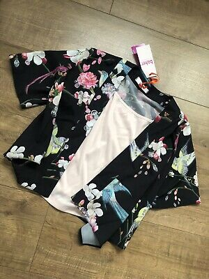 New Ted Baker Girls Outfit Set Kimono & Cami T-shirt Top Size 9 Years