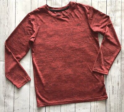 EUC Old Navy Active Boys Athletic Top GO-DRY, Maroon Red, Size Large 10-12