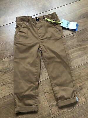 New Ted Baker Baby Boys Brown Jacquard Chinos Trousers Size 18-24 Months