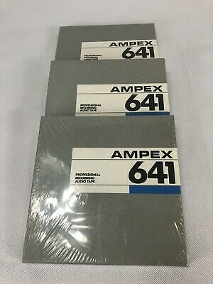 Lot Of 3 Ampex 641 Professional Recording Audio Tape Sealed