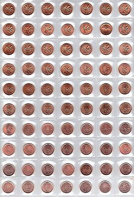 Canada - Complete 70 Coin 1956 - 2012 Gem BU Penny Collection!!