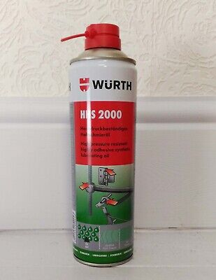 500ml WURTH HHS 2000 spray Highly adhesive synthetic lubricating oil for engine