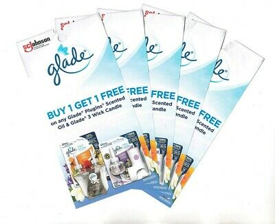 10x Glade Buy 1 Get 1 Plugins Scented Oil/3 Wick Candles Coupons (Canada)