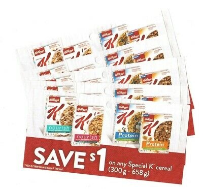 14x Save $1 on Kelloggs Special K Cereal Coups June 2020 (Canada)